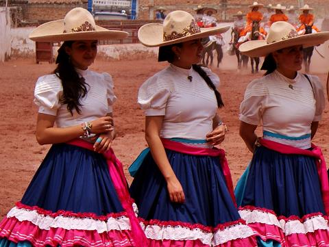 Mexican cowgirls